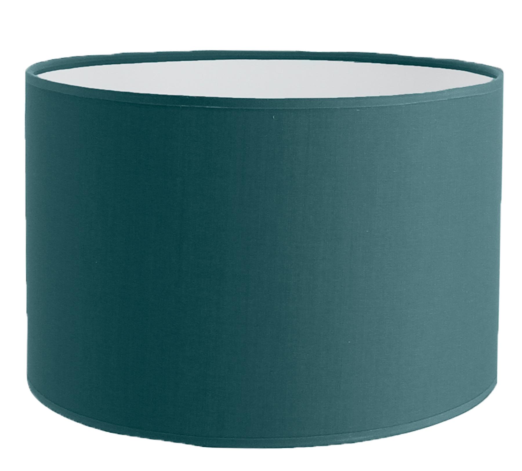 Abat-jour cylindre bleu canard