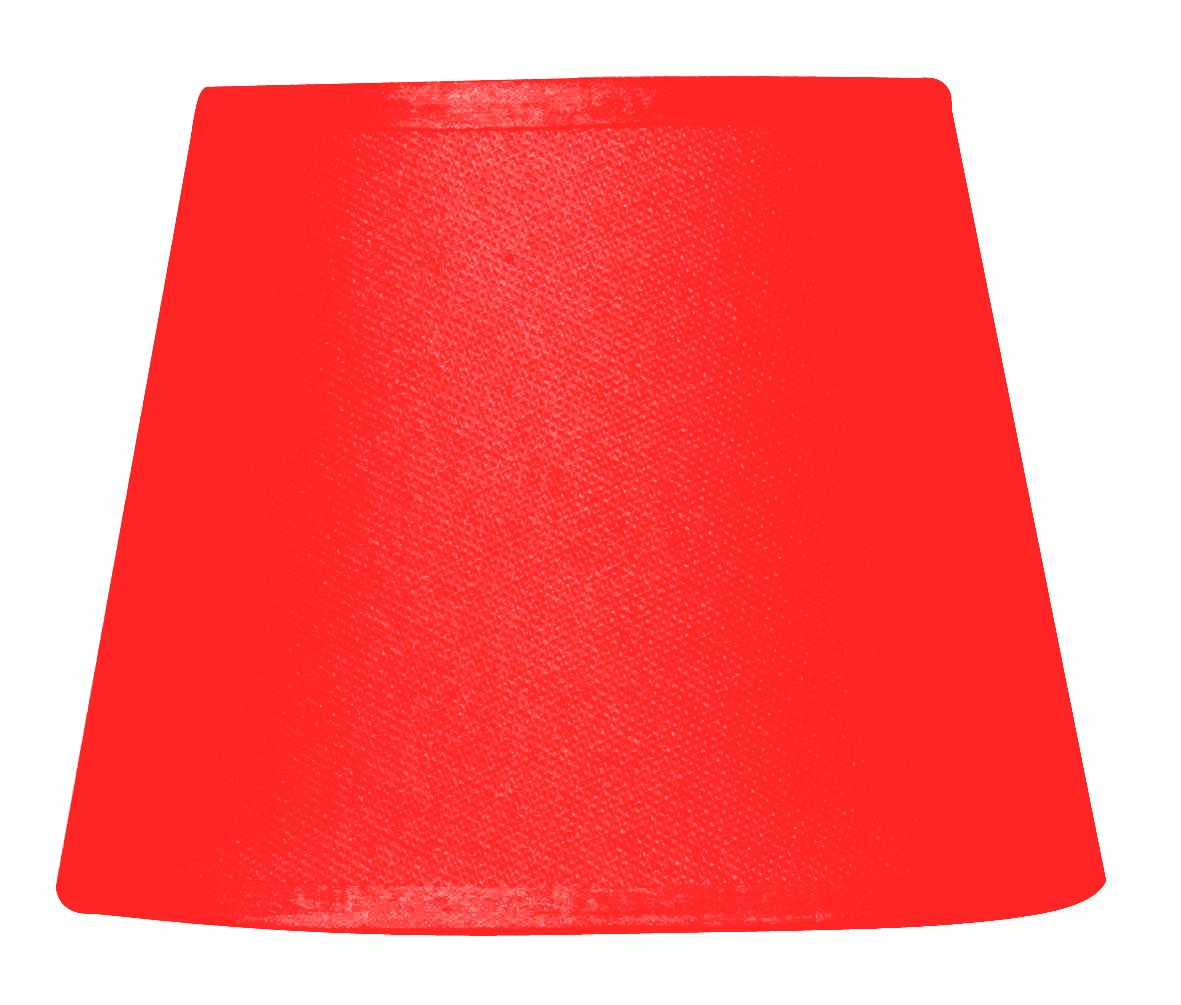 Abat-jour à pince rouge diamètre 14 cm