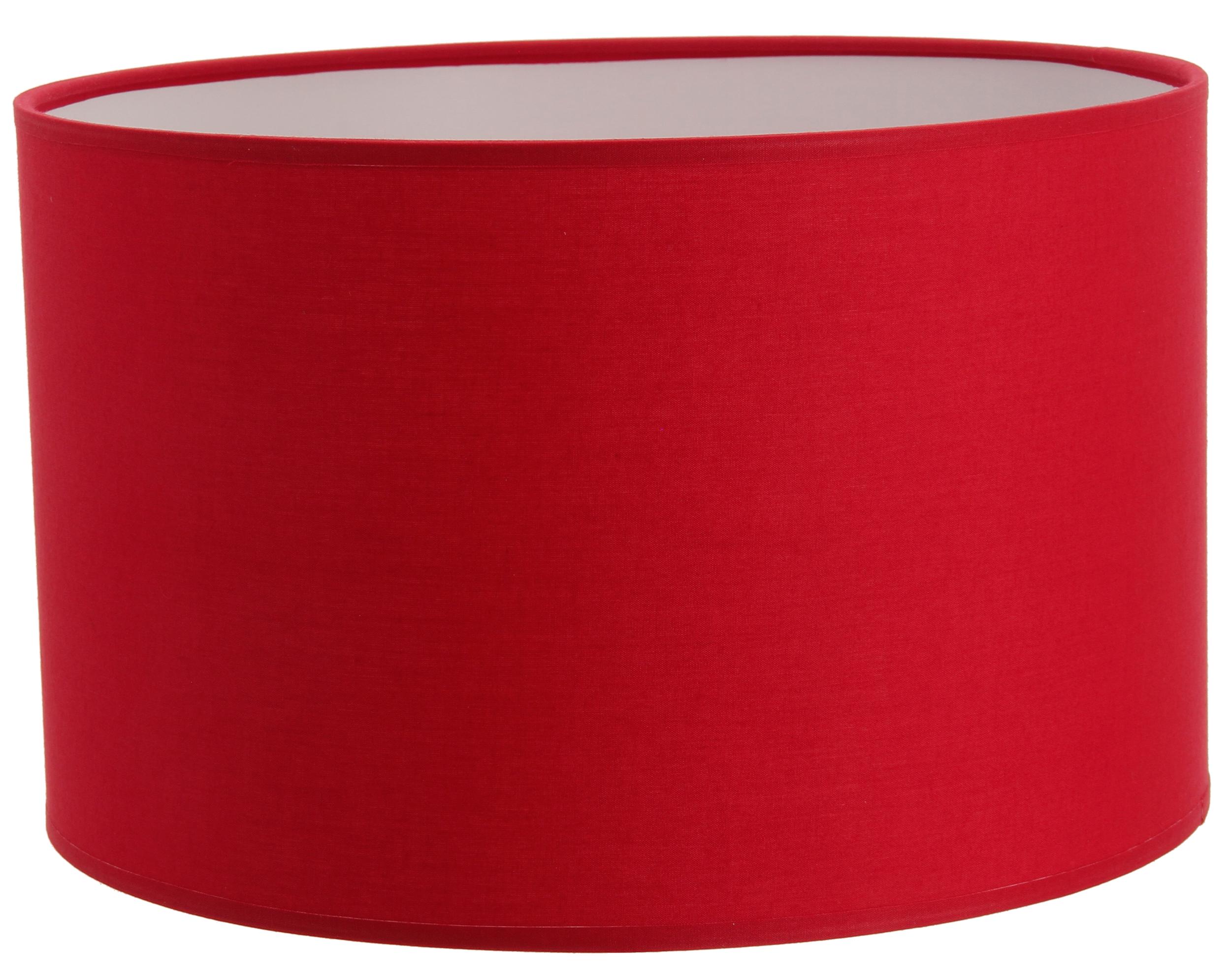 Abat-jour cylindre rouge