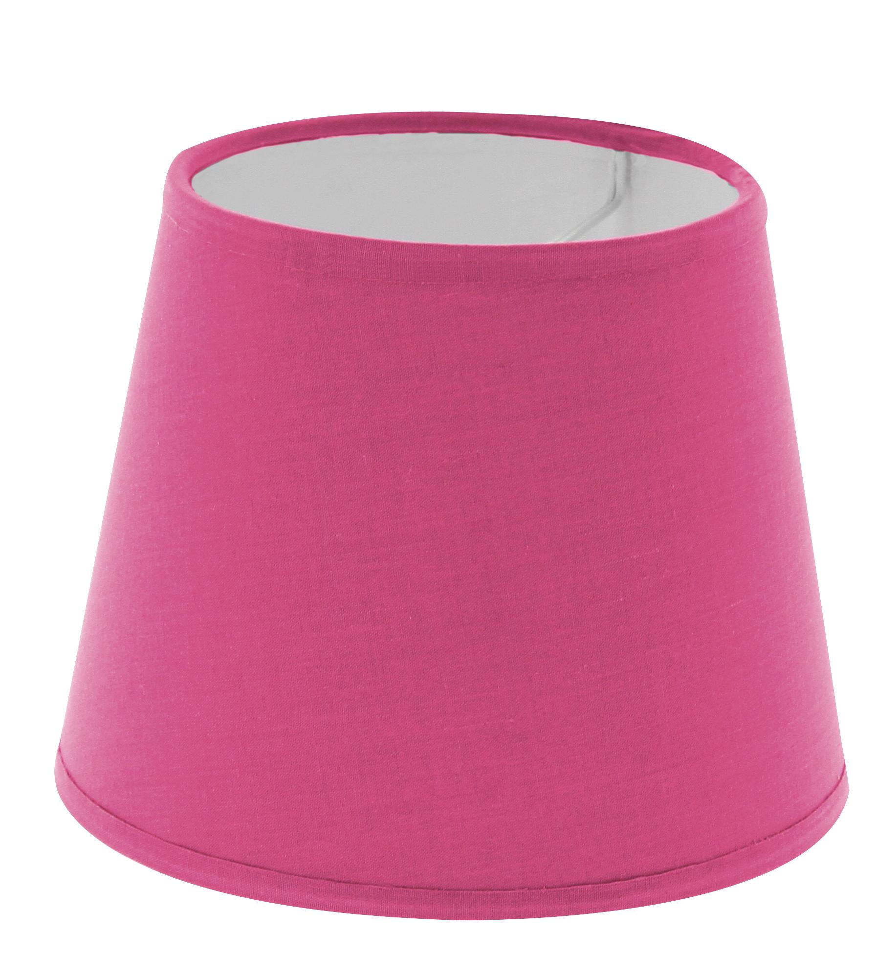 Abat-jour à pince rose framboise diamètre 14 cm