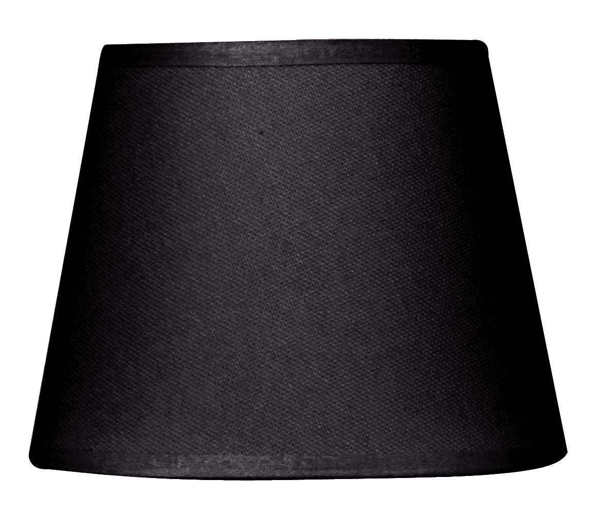 Abat-jour à pince noir diamètre 14 cm