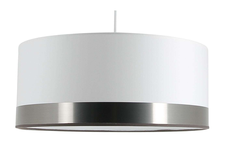 Suspension cylindre Silver Blanc et Argent