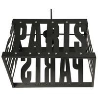 Suspension Métal Paris Noire