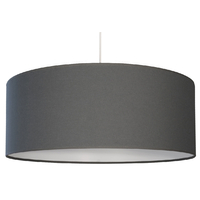 Suspension Cylindre Coton Gris anthracite