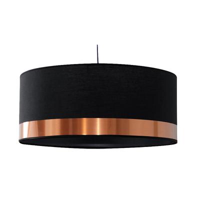 Suspension cylindre Copper noir et cuivre grand modèle