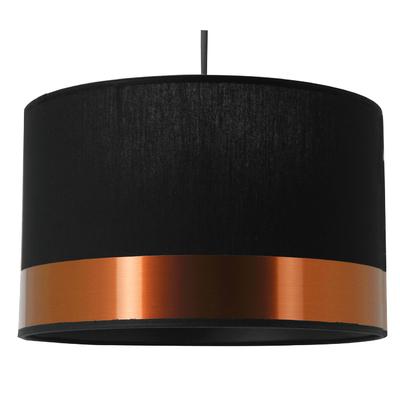 Suspension cylindre Copper noir et cuivre petit modèle