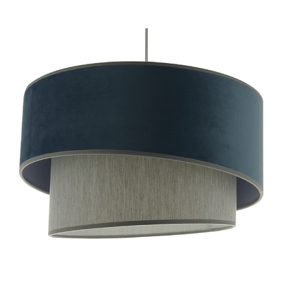 Suspension Ionos Velvet bleu gris