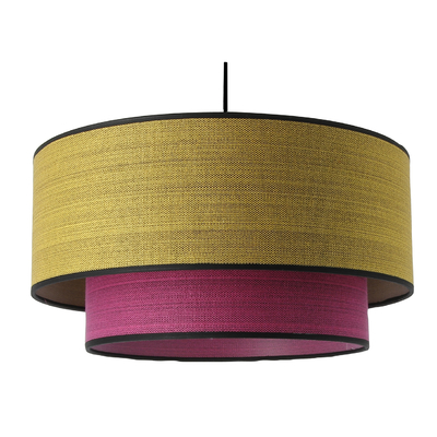 Suspension Stratos Marl jaune rose