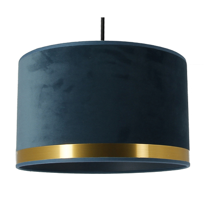 Suspension Art Deco bleu/laiton