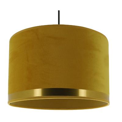 Suspension Art Deco jaune/laiton