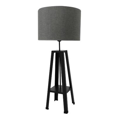Lampe Atelier gris titane, pied noir