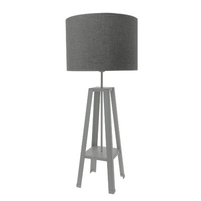 Lampe Atelier gris titane, pied gris titane