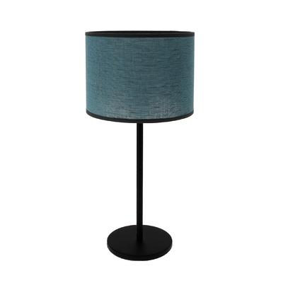 Lampe Max bleu curaçao (pied métal noir)