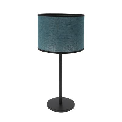 Lampe Max bleu curaçao (pied gris anthracite)