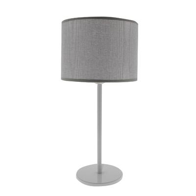 Lampe Max gris titane (pied métal blanc)