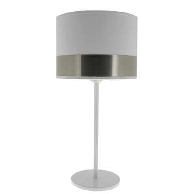 Lampe Max blanc/acier brossé