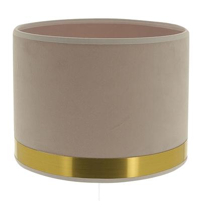 Abat-jour cylindre Art Déco rose et laiton