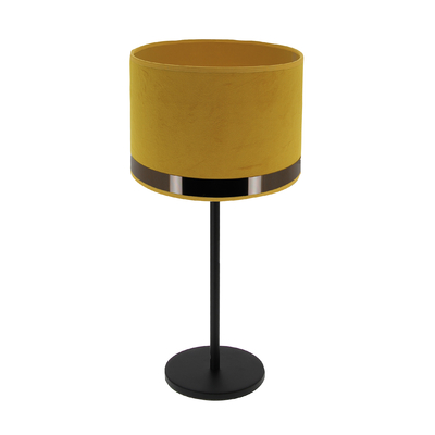 Lampe Max Art Déco jaune / Or rose