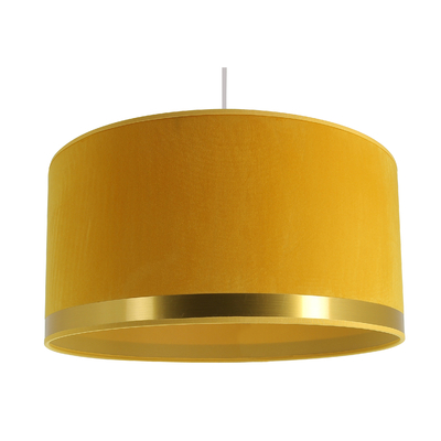 Suspension Cylindre Art Déco jaune Ø 39 cm