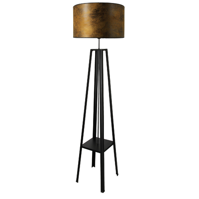 Lampadaire Club marron