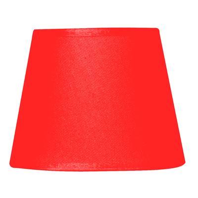 Abat-jour à pince rouge paprika diamètre 14 cm