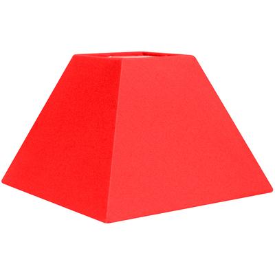 Abat-jour pyramide rouge