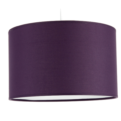 Suspension Cylindre Coton Violet