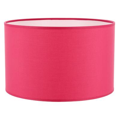 Abat-jour cylindre rose framboise