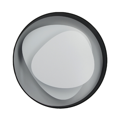 Applique LED Design Brume Noire 58 cm