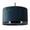 suspension art deco bleu or rosé