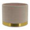 abat-jour cylindre art deco rose laiton