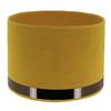 abat-jour cylindre art deco jaune or rosé
