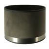 abat-jour cylindre art deco gris acier brossé