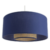 Suspension double cylindre Havana bleue