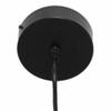 cordon de suspension noir avec pavillon métal 1
