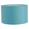 Abat jour cylindre bleu lagon