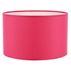 abat jour cylindre rose framboise