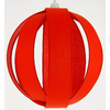 Suspension anneaux rouge paprika