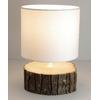 Lampe ecorce blanche éclairée