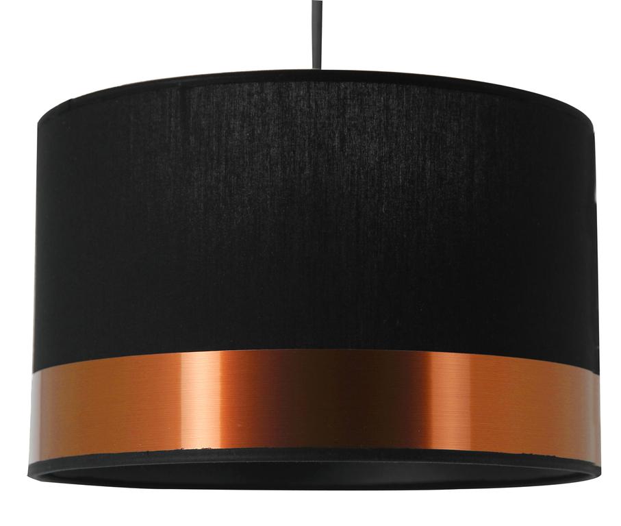 Suspension cylindre cuivre noir PM