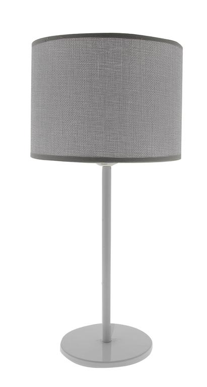 lampe max gris titane (pied metal blanc)