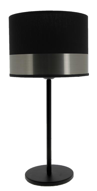 lampe max noir acier brossé