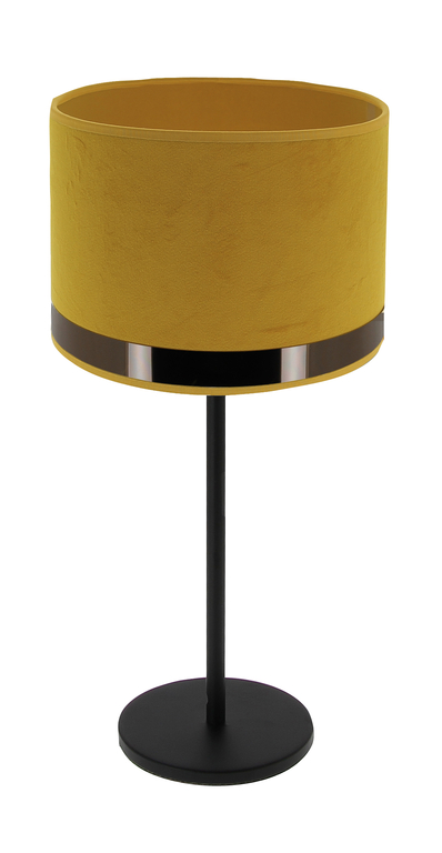 Lampe art deco jaune or rose