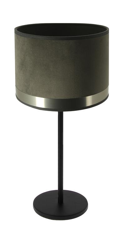 Lampe art deco gris acier brossé