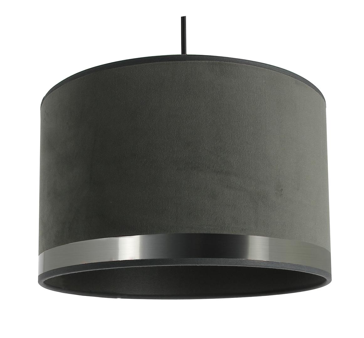 Suspension art deco grise acier brossé