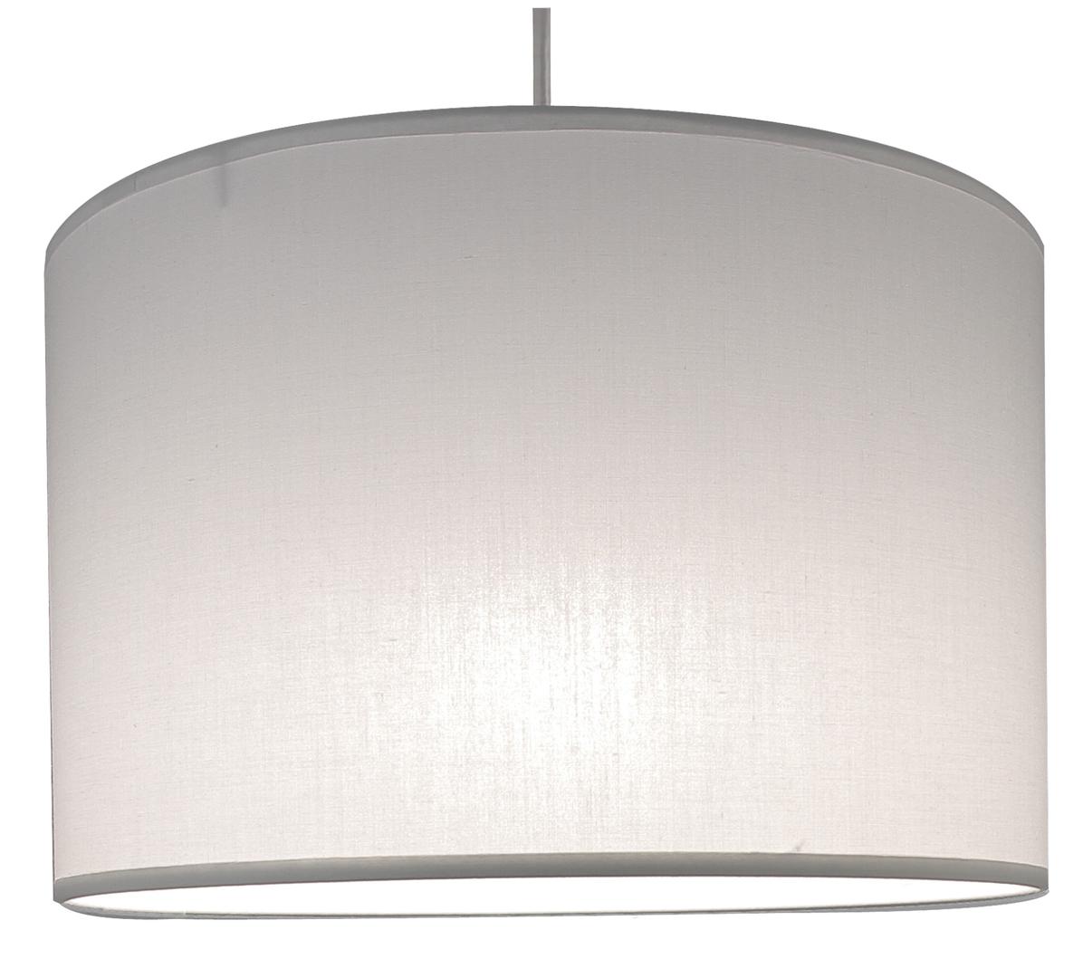 Suspension cylindre blanche transparent éclairée