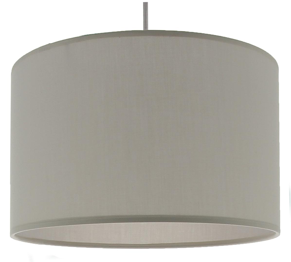 Suspension cylindre gris doré transparent