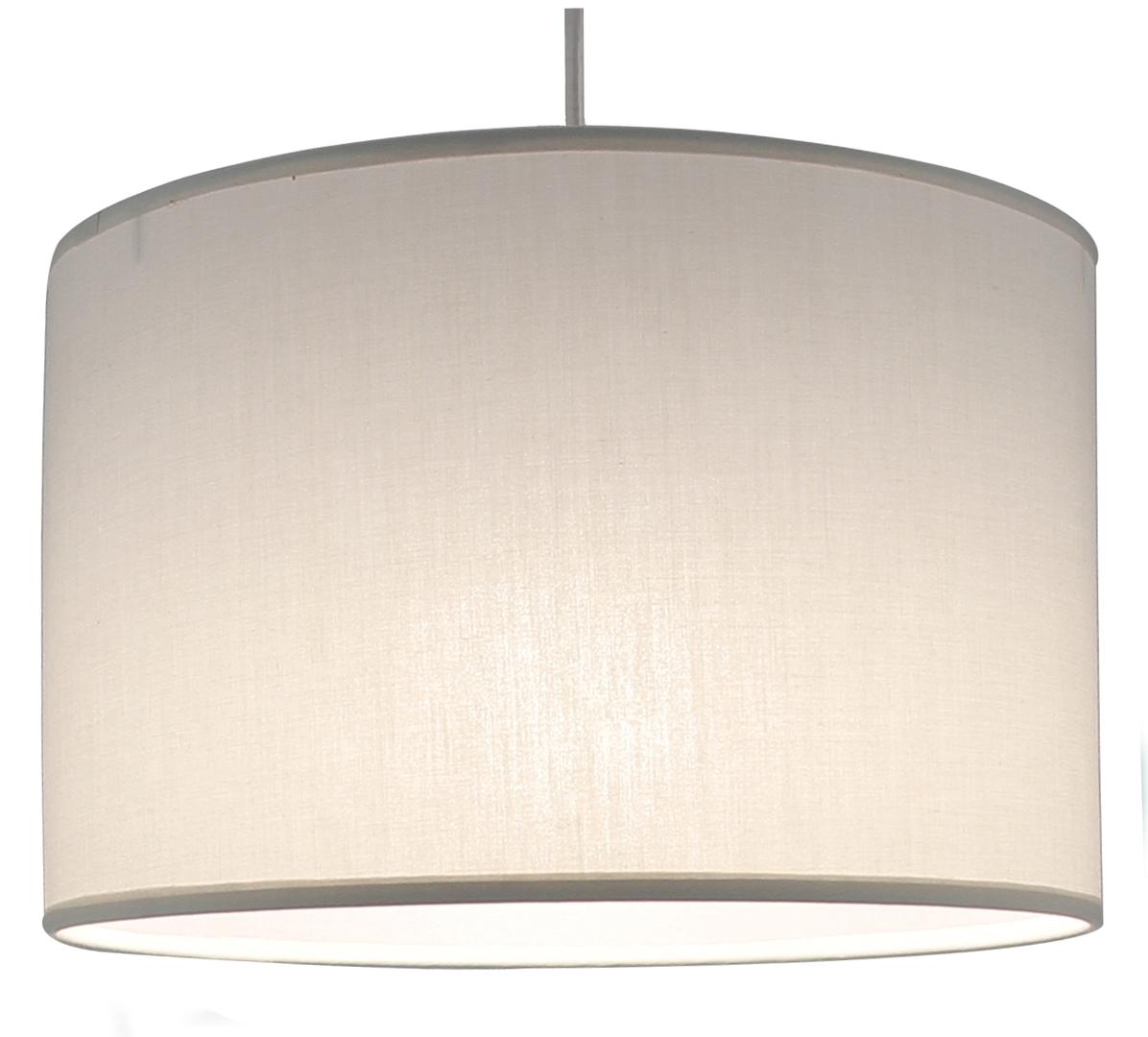 Suspension cylindre gris doré transparent éclairée