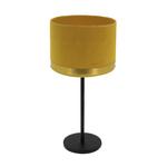Lampe art deco jaune laiton