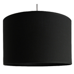 Suspension cylindre noire transparent
